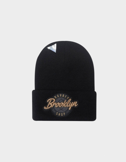 C&S CL BK Barber Old School Beanie black/gold one