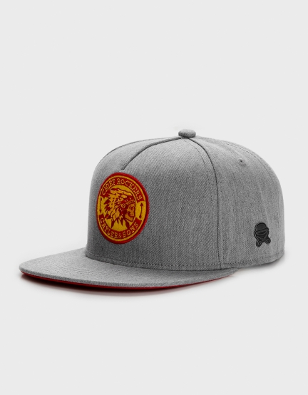 C&S CL CR Cap heather grey/red/yellow one