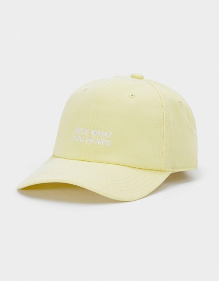 CSBL What You Heard Curved Cap yellow one