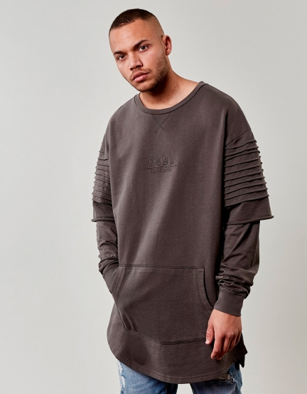 CSBL Pleated Layer Crewneck grey S