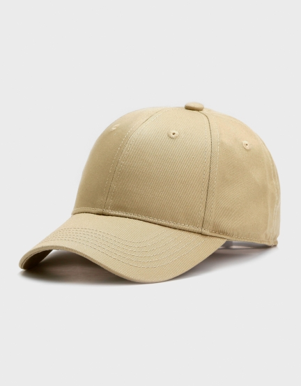 C&S Plain Curved Cap beige one