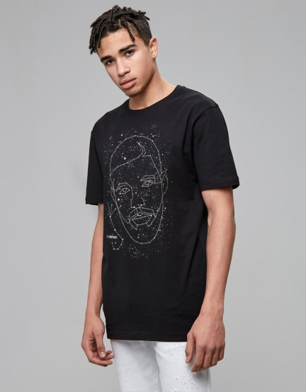 C&S DRIZZODIAC Tee black/mc XL